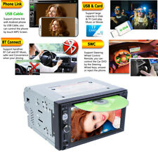 2 Din 6.2 inch Car DVD MP5 Stereo Player Radio Mirror Link/ USB/TF/Bluetooth/SWC