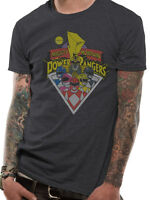 Power Rangers Classic Poster Sabans Mighty Morphin Official Grey Mens T-shirt