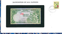 Banknotes of All Nations Western Samoa P19 1 Tala 1980 UNC Low# A018635