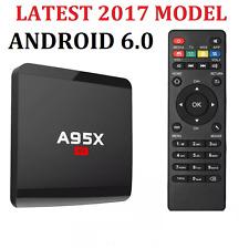 Android 6.0 Smart Tv Box 4K Ultra HD Kodi Media Player Wifi Quad Core A95x MXQ