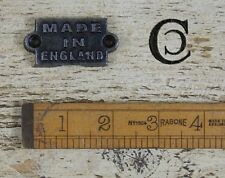 Solid Cast Iron Made In England Sign Plaque Vintage Antique Design Gift #BD12