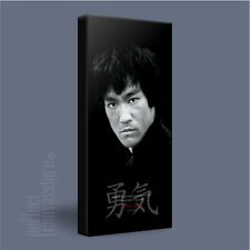 BRUCE LEE INSPIRING 'COURAGE' QUOTE ICONIC CANVAS ART PRINT PICTURE Art Williams