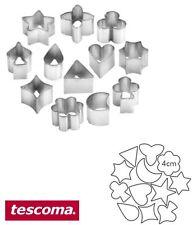 12 Stampi in metallo di varie misure a forme miste fantasie per biscottini casa