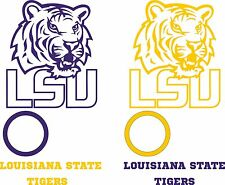 LSU Tigers Cornhole Set of 6 Vinyl Decal Stickers Louisiana State Bean Bag Toss