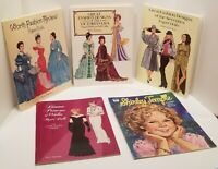 Lot of 5 - Uncut - PAPER DOLL BOOKS