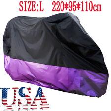 L Waterproof Outdoor Motorcycle Cover Black Fit Suzuki GS 1000 1100 1150 250 C G