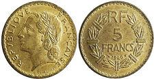 III° REPUBBLICA , 5 FRANCHI LAVRILLIER CUPRO-ALLUMINIO 1946 CENT. , SUPERBO