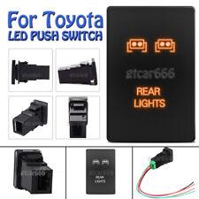 12V 3A ON-OFF Orange LED Push Switch Rear Light For Toyota Tundra 4Runner Tacoma