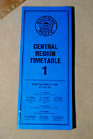 Southern Pacific Employee Timetable - Central Region #1 - April 14, 1996
