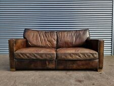 SUPERB TIMOTHY OULTON HALO VISCOUNT 2 SEATER LEATHER SOFA FREE DELIVERY 🚚🚀