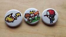 "Pokemon Ash and Friends Pikachu Pin / Button 1-1/4"" New Unused Handmade"