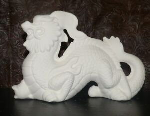 Chinese Dragon Holding Gazing Ball  * Ceramic Bisque Ready to Paint