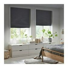 2 X IKEA SCHOTTIS Block-out Pleated blind,Dark grey window covers 100x190cm  pup