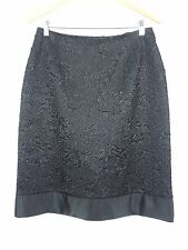 JOSEPH RIBKOFF sz 14 womens Black skirt [#937]