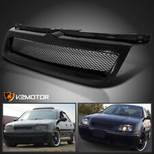 For 1999-2004 VW Jetta MK4 Badgeless Mesh Front Hood Grill Grille Black