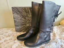 Biker Boots with Upper Leather 6 Size