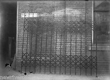 Antique 5x7 Glass Plate Negative SW Pennsylvania Wrought Iron Works Scissor Gate
