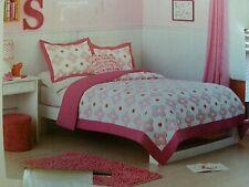 Circo Pink Flower Dot Queen Full Quilt & Pillow Sham Set New