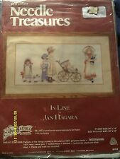 "Needle Treasures ""In Line"" Crewel Embroidery Kit Size 20"" x 10"""