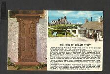 Vintage Colourmaster Postcard The John O' Groats Story Scotland posted 1976