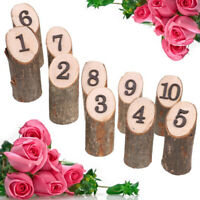 10PCS Wooden Hanging Ornament Wedding Table Home Decoration 1-10 Numbers