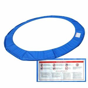Durable Blue Safety Round Spring Pad Replacement Cover for 14' Trampoline