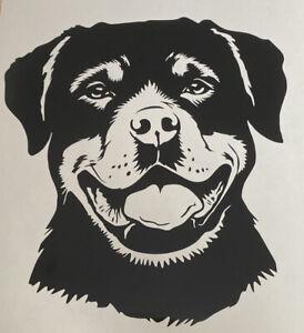 1x Rottweiler Dog Vinyl Sticker Decal Graphic Car Van Window Black