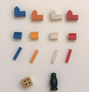 Authentic Settlers of Catan Cities Settlement Road Dice Robber 483 Part Piece