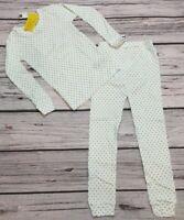 Baby Gap 5 / 5T Girls White & Teal Polka Dot Pajamas 2-Piece Set. Nwt