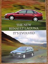 Renault Laguna Hatchback & Estate 1998 UK Market Launch Foldout Sales Brochure