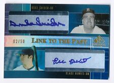 2004 SP Prospects DUKE SNIDER BLAKE DEWITT RC Link to the Past Dual Auto #/50