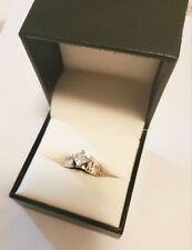 Ring 1.50 Ct Appraisal, Gia Graded 14K White Gold Diamond 11 Stone Engagement