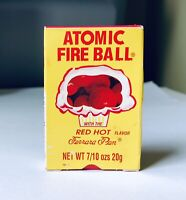 ORIGINAL Vintage 1985 Ferrara Pan ATOMIC FIRE BALL Candy Box SEALED Container