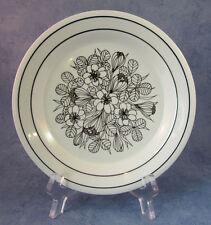 ARABIA OF FINLAND, Black Krokus , Vintage, Cake Plate, Very Good Condition