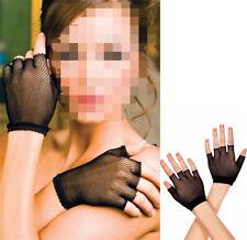 Hot Sale Fingerless Mittens Women's New Wrist Length Fishnet Gloves One Size