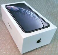 Original Boîte Vide Pour Apple IPHONE XR 64GB Noir Avec Chargement Câble