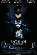 BATMAN RETURNS Michael Keaton DOUBLE SIDED Original 27x40 Movie Poster 1992