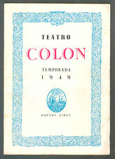 MARIA CALLAS ORIGINAL OPERA PROGRAM OF THE TEATRO COLON IN NORMA 1949