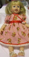 "Red Stripe Teddy Bear Dress,Fits 20"" Lee Mid/ Macie Toddler doll/19"" Regan LM"