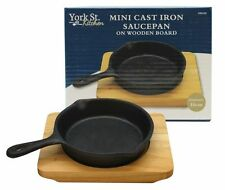 New Mini Cast Iron Pot pan On Wooden Board 10cm