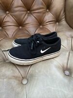 Nike Kids Black Canvas Court Skate Shoes Plimsoll Trainers Size UK11 Old Skool