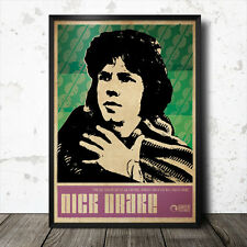 Nick Drake Folk Music Art Poster 60's Baez Seeger Tim Buckley Bert Jansch