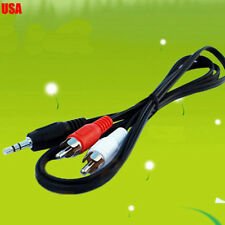 3.5mm to RCA AUX CABLE CORD for IPHONE 4 IPOD TOUCH 4G USA