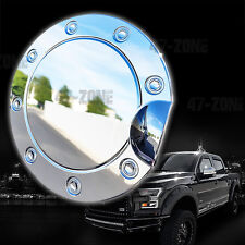 For 15-16 Ford F150 Chrome ABS Plastic Gas door Fuel Tank Cover Trim Overlay