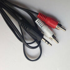 BA_ Headphone Plug Jack 3.5mm to Red White RCA Aux Stereo Audio Sound Cord Cable