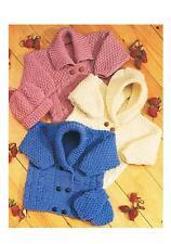 Knitting Patterns Baby Child's Aran Cardigans Hat Vintage PATTERNS ONLY ±sc43