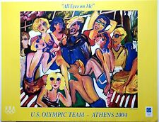 Athens 2004 Poster - All Eyes on Me - Susan Manders USOC Official Olympic Poster