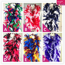 1pc Feather Boa Strip Fluffy Craft Costume Fancy Dress Up 9 Mix Colors KT0663