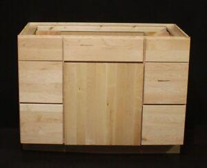 """Kraftmaid 45"""" Natural Maple Bathroom Vanity Sink Base Cabinet ASK 4 Granite Top"""