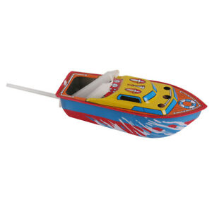 Candle Powered Boat Speedboat Model Kids Gift Toy Decor for Office Home